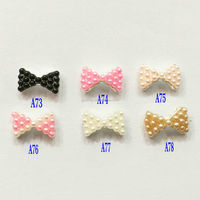 Alloy Jewelry 3D Nail Art Decoration Bow Tie For Girls