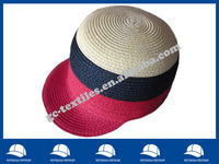striped fashion straw cap with peak