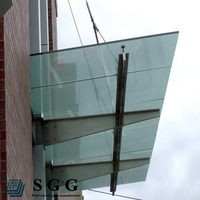 excellent quality tempered & laminated glass door canopy
