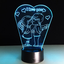Novel gift USB LED Acrylic Plate Lamp Colorful light night light 3D Optical illusion Lamps,3d acrylic led lamp for kids