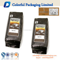 Custom Printing Coffee Bean Packaging Bag with Vale and Tin Tie