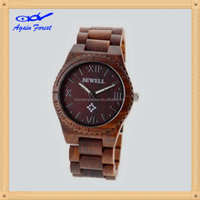 Cheap manufacture branded two tone wooden watch