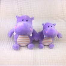 Promotional factory customized lovely hippo shaped stuffed animal plush toys for children room bedding decoration