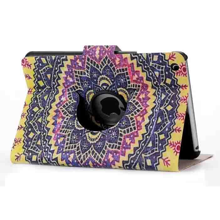 360 degree rotating case for ipad 6 pu leather printing case