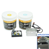 UL 94 V-0 Certificated addition silicone thermal conductive potting for DC driver and electronic component