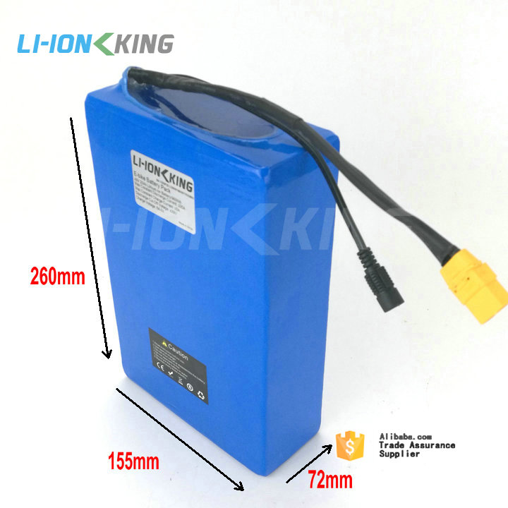 Free Tax Duty 30A BMS 1000W 48V 20Ah Lithium Battery Pack with 54.6V 2A Charger