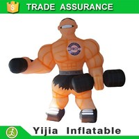 Giant muscle man inflatable cartoon characters