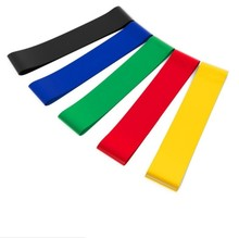 Colourful Yoga Exercise Bands For Fitness,12 Inch Colourful Resistance Loop Bands Set , dance equipment for stretching