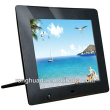 8 inch TFT LCD digital screen digital photo frame with motion sensor support remote control and button control 2 options