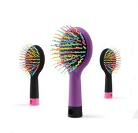 2015 Personalized colorful wavy shape bristle hair brush