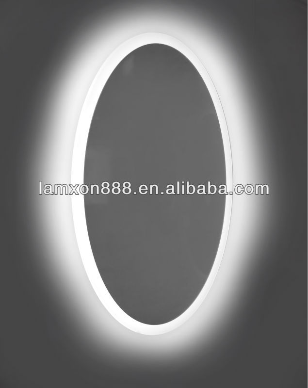 hochwertige led oval bad spiegel mit licht badspiegel. Black Bedroom Furniture Sets. Home Design Ideas