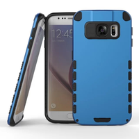 C&T Heavy Duty Hybrid Dual Layer Armor Case Cover for Samsung Galaxy S7 Edge