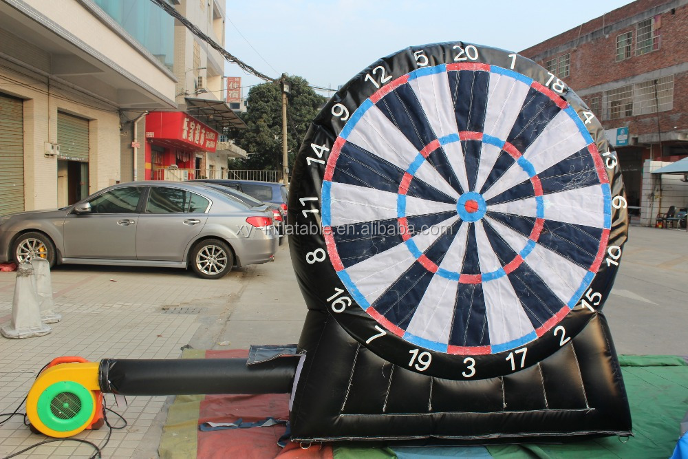 giant inflatable sport soccer dart board adults kids inflatable bull eye