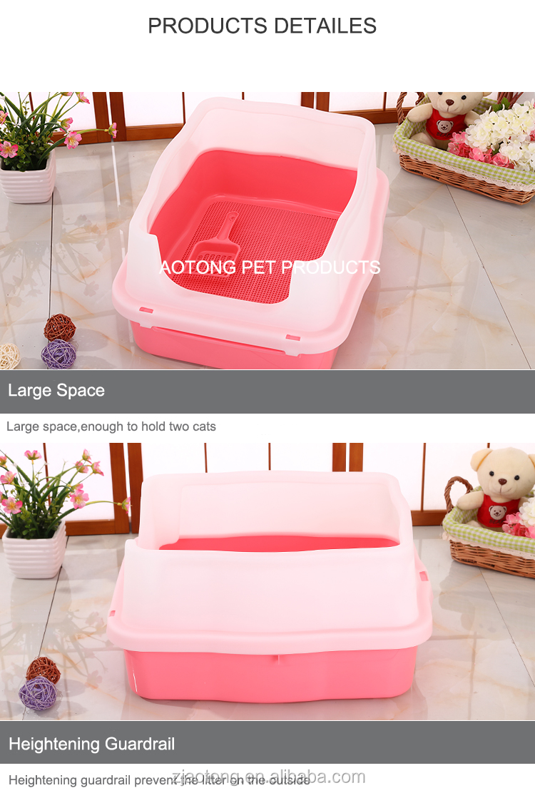 Cat Cleaning Litter Box Hooded Cat Litter Pan