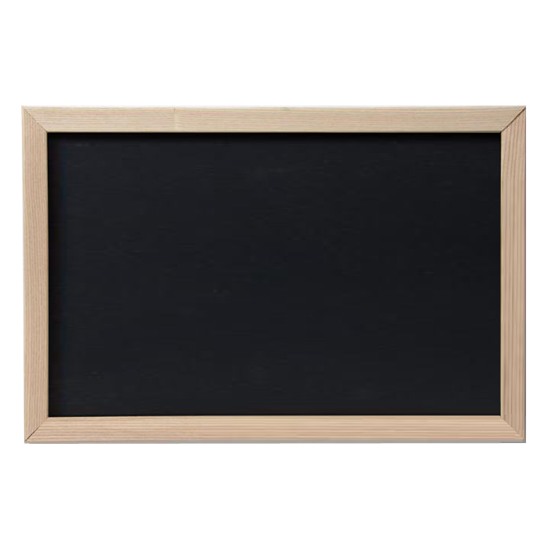 Black magnetic dry erase board