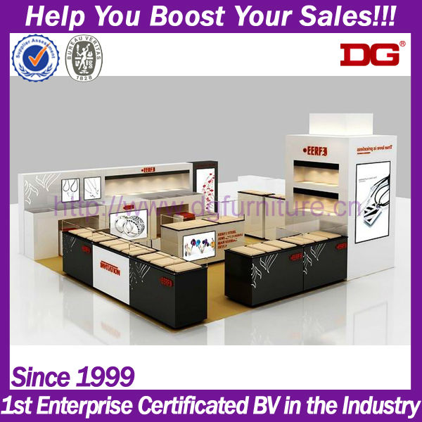 Trade show jewelry special booth exhibition display system