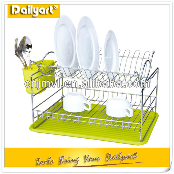 2 layer kitchen plastic dish drainer tray
