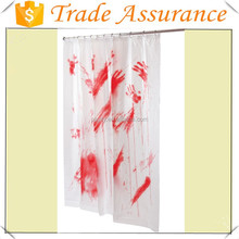 Factory sales Bloody Shower Curtain for Halloween/Carnival/party/Halloween chop shop bloody gauze, Halloween hanging decoration