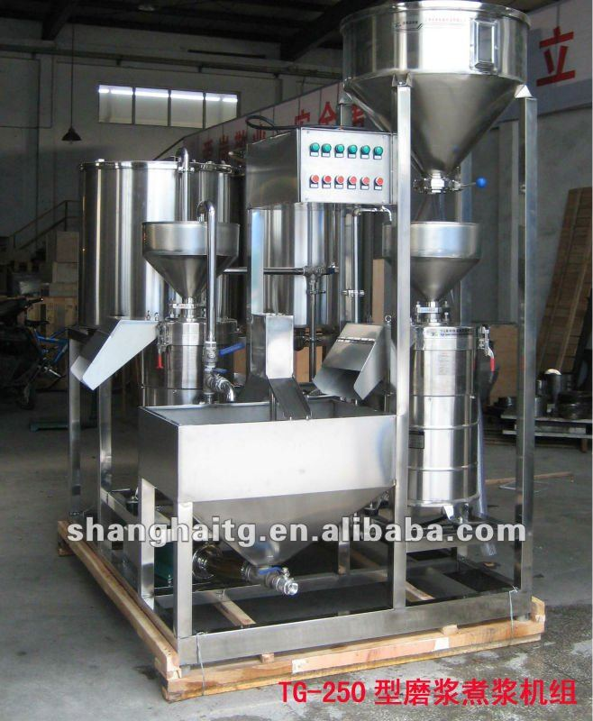 TG-250 soybean /soy/soya milk tofu maker /making machine