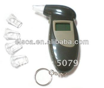 Keychain Digital Breath Alcohol Tester with Mouthpiece digital breath alcohol tester