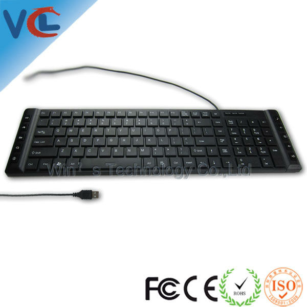 Super Slim Computer Keyboard with Easy Entering Hot Keys