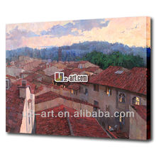 Wholesale nice natural nice natural village scenery painting