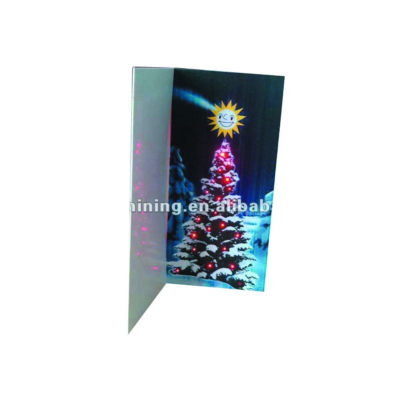 paper material christmas led greeting card christmas occasion