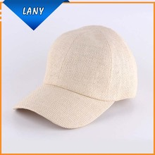 Curved bill paper straw baseball cap hats