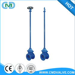 Drawing Water Manufacture BB Cast Iron Long Stem Direct Buried Gate Valve