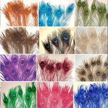 Cheap sale Blenching and dyeing Beautiful color Peacock Feather for Christmas docaration