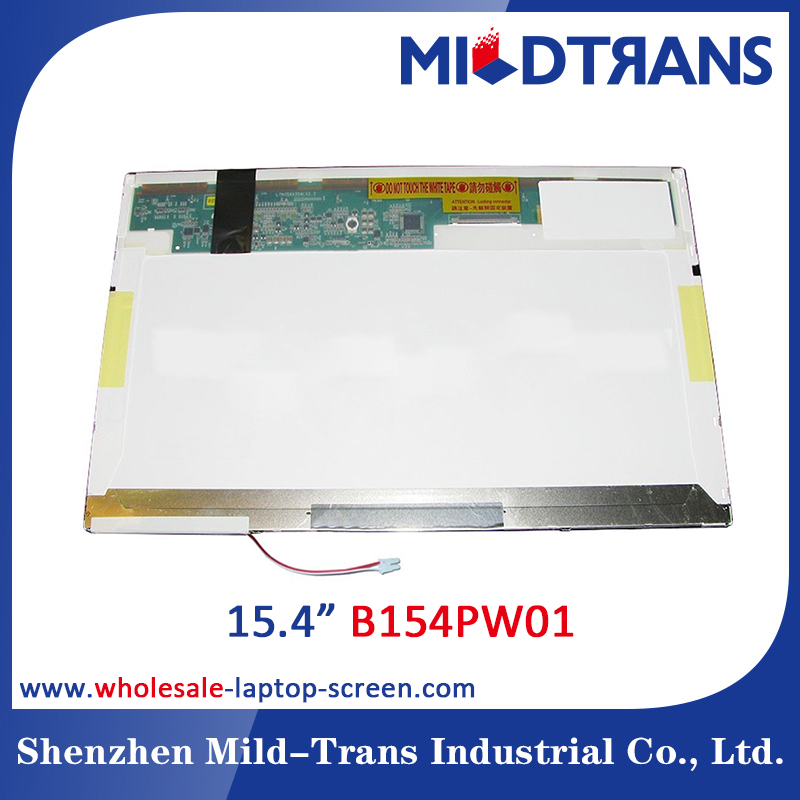 Wholesale laptop LCD/LED screen 15.4inch laptop wide and glare screen B154PW01 led monitor