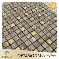 China Factory Prices Non Slip Mosaic Glass And Ceramic Floor Tile