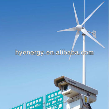 solar system with 600W wind turbine for mornitoring/CCTV