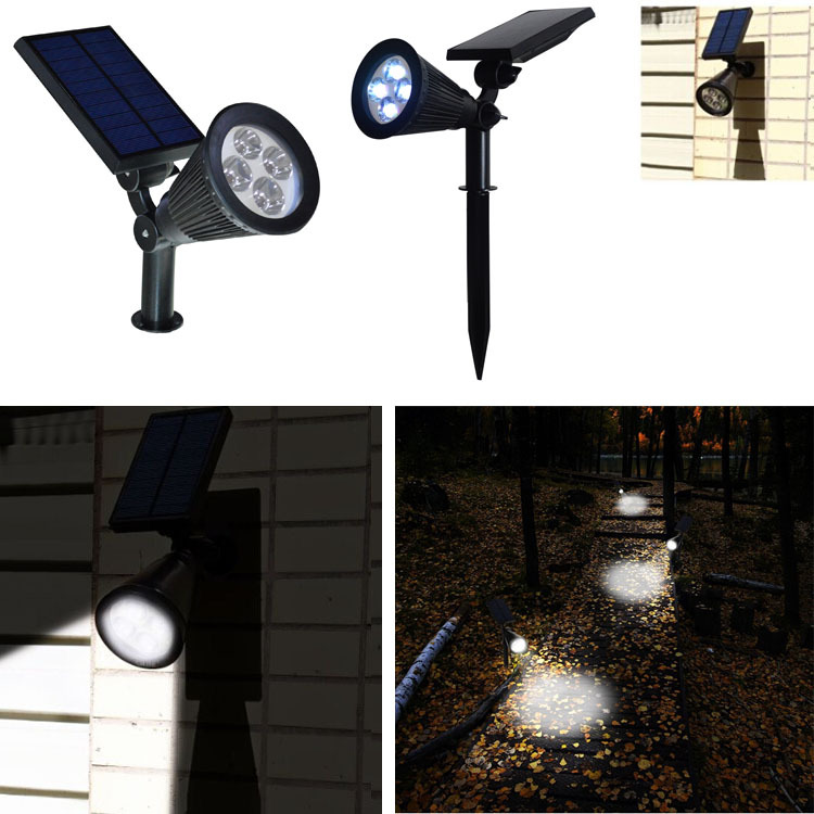 Solar Spotlights,Solar Lights 2-in-1 Adjustable Solar garden light