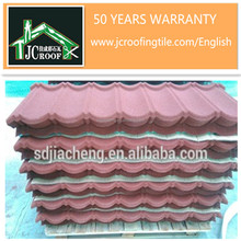 color aluminium zinc steel plate material roofing tiles/stone coated metal roof tiles for building