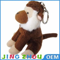 Import toys directly plush monkey keychain for sale