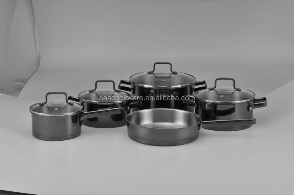 New design colorful coating 18/10 stainless steel kitchen ware china wholesale cookware