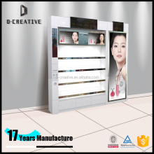 Foshan D-Creative Fantastic Style Shopping Mall Cosmetic Kiosk For Makeup Shop Design Cosmetics make up Display Cabinet With LED