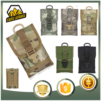 Hiking Cotton Canvas Molle Bottle Bag Military Camo Pouches Tactical Accessory Pouch