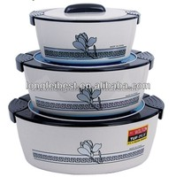3pcs Promotion Plastic Insulated Food Warmer with Stainless Steel Inner