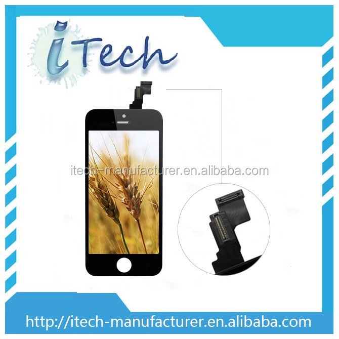 Cell Phone Lcd For Iphone 5c Lcd Digitizer Touch Screen Display Black Color China