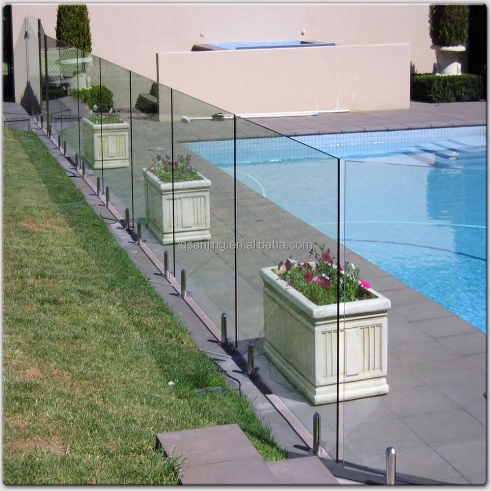 tempered glass fence panels low price manufacturer