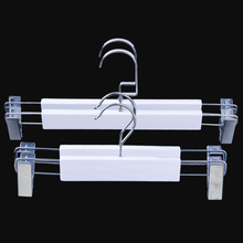 Lipu clothes hanger factory luxury wooden skirt white pant hanger with clips