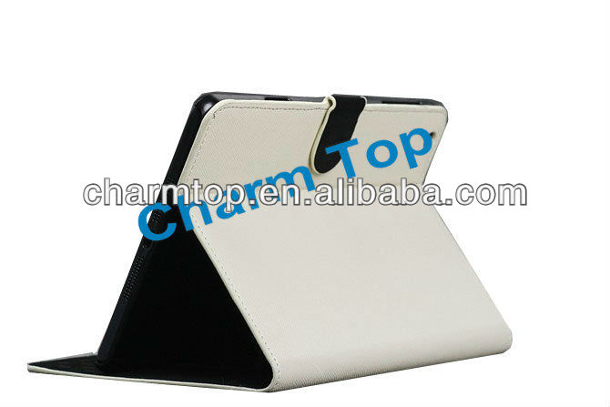 High Quality Litchi Leather Stand Case For iPad Mini