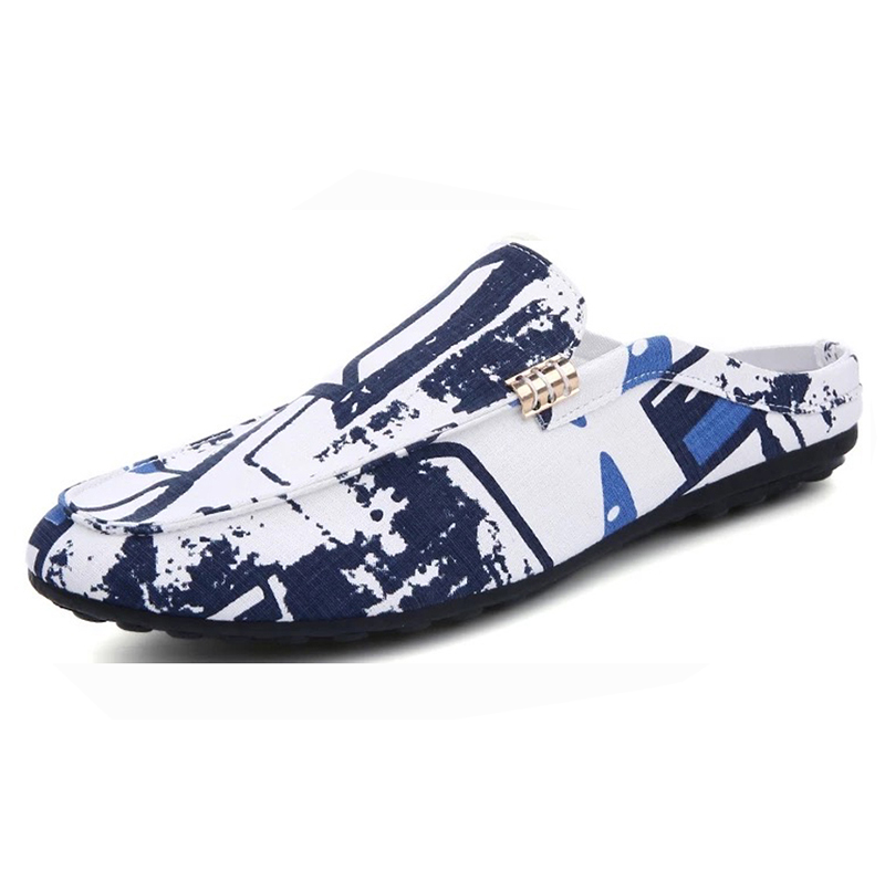 latest fashion cheap summer loafer shoes men casual canvas footwear