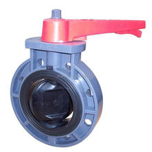 High quality plastic PVC Butterfly valve with handle type