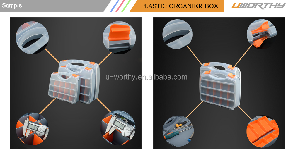 Plastic Storage Organizer Box Tool Case with Compartments Multi-function Hardware Screw Parts Boxes