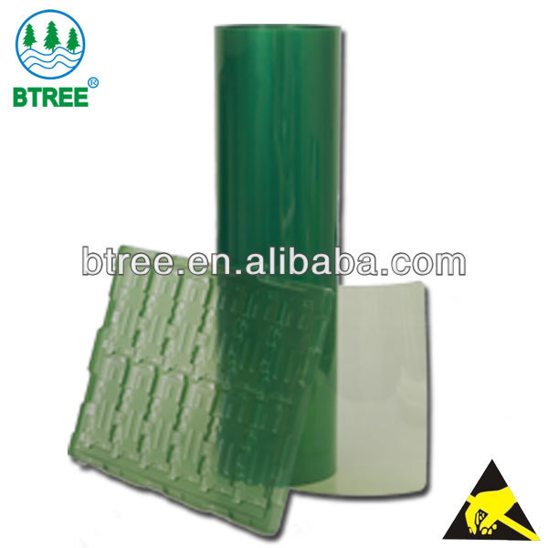 Btree Antistatic APET Sheet/APET Rolls For Vacuum Forming Electric Components trays