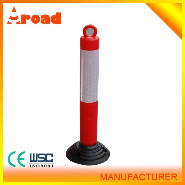 hot sales 80cm traffic rubber post