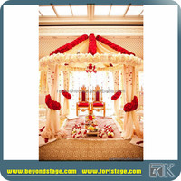 used indian wedding backdrop /ceiling drapery/pipe and drape kits